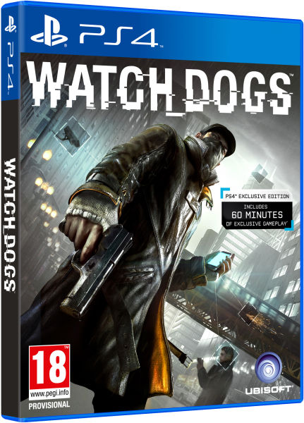 Watch Dogs PS4 BOX ART