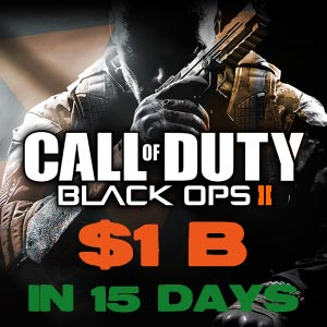 Call of Duty: Black Ops 2 מכירות של מיליארד דולר ב 15 יום