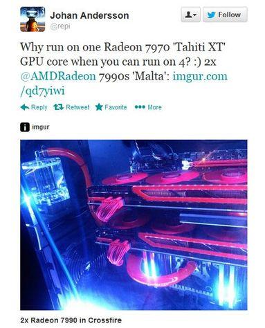 2x Radeon 7990 in Crossfire  BF4