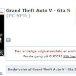 GTA V למחשב האישי (PC) – זמין לרכישה מוקדמת בדנמרק
