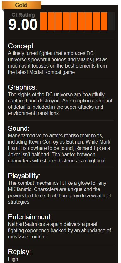 Injustice Gods Among Us gameinformer review