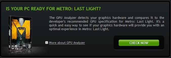 METRO LAST LIGHT דרישות מערכת
