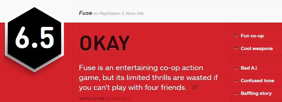 FUSE ביקורת IGN