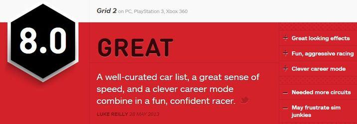 GRID 2 IGN ביקורת