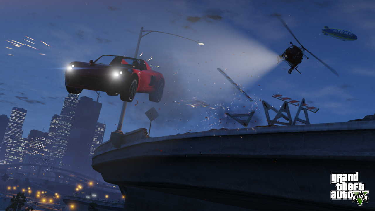 New GTA V screens highlight heists, car chases  08