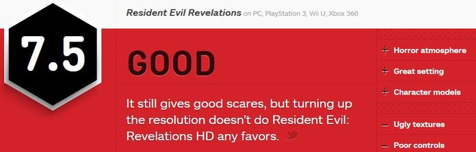 ResidentEvilRevelations-ביקורת