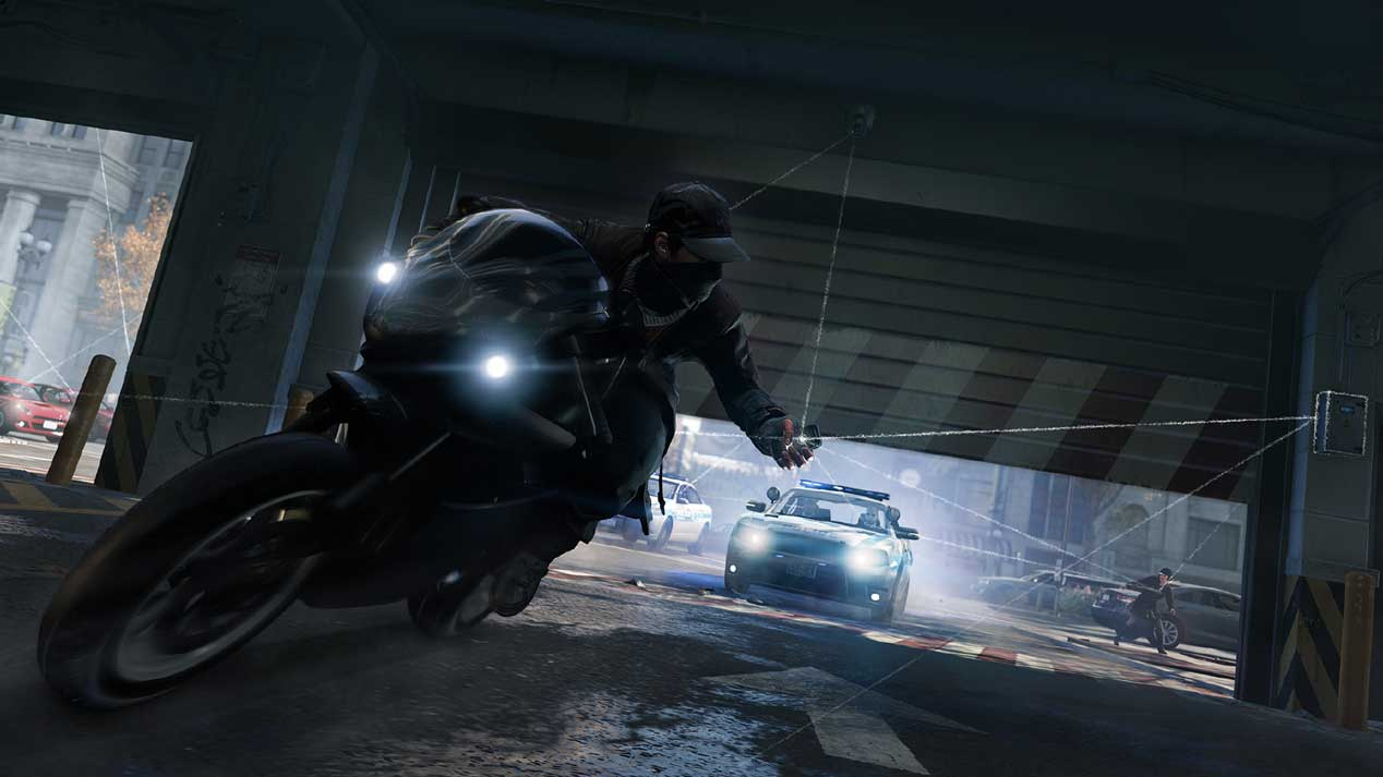 Watch Dogs running on PS4  5