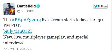 BF4 TWITTER LIVE MULTIPLAYER