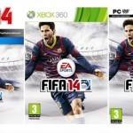 FIFA 14: מסי שואג אחרי גול בעטיפה הרשמית של המשחק