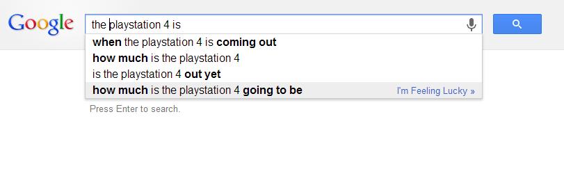 PS4 GOOGLE