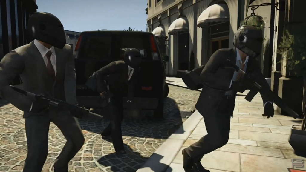 Grand Theft Auto V Gameplay Analysis robbing