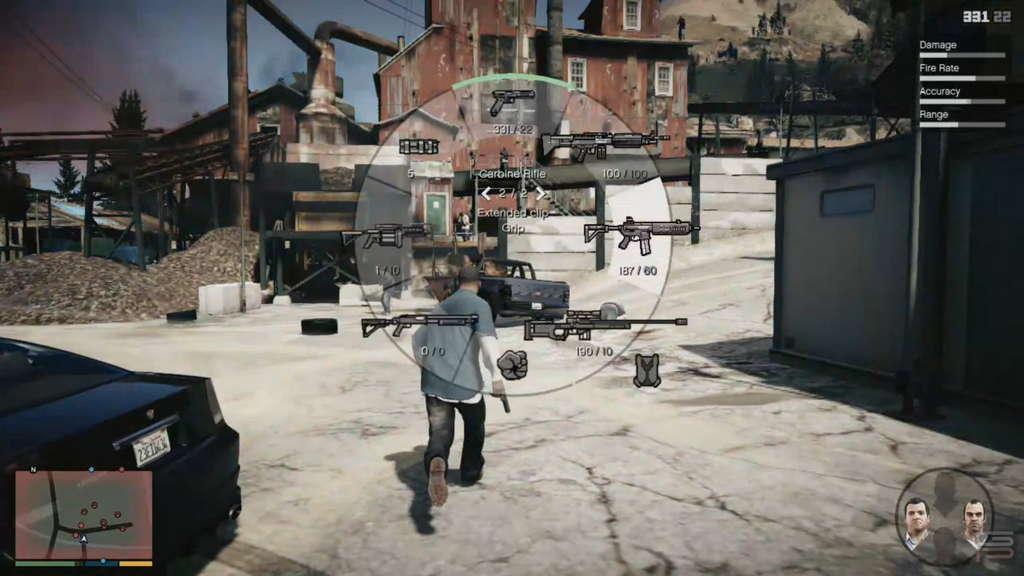Grand Theft Auto V Gameplay Analysis weapons