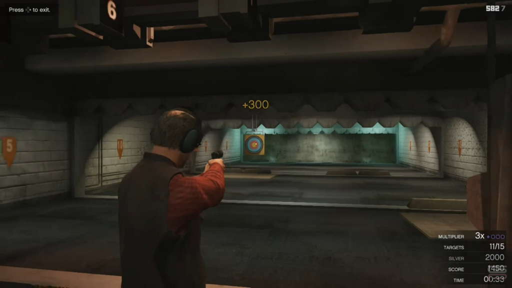 Grand Theft Auto V Gameplay shooting range