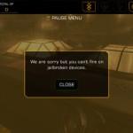 קניתם את המשחק Deus Ex: The Fall? באייפון פרוץ לא תוכלו לירות בנשקים
