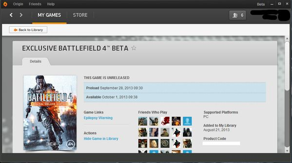 Battlefield 4 Beta ORIGIN