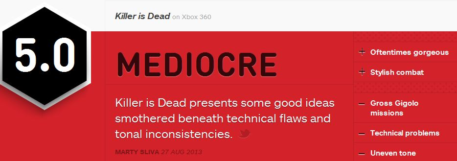 KILLER IS DEAD IGN REVIEW