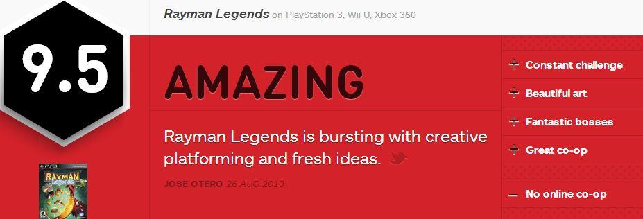 Rayman Legends ביקורת IGN