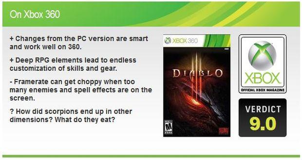 דיאבלו 3 אקסבוקס 360 ביקורת
