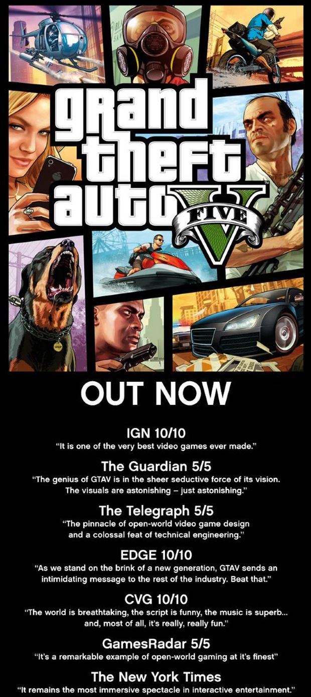 GTA V IS OUT