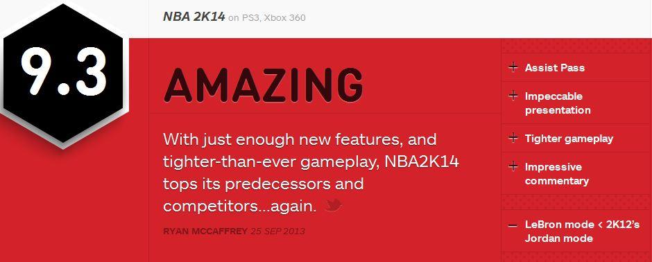 NBA 2K14 ביקורת