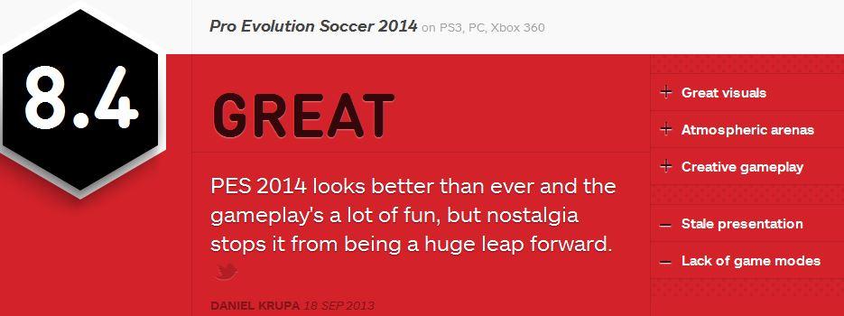 PES 2014 ביקורת IGN