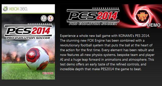 PES 2014 דמו להורדה