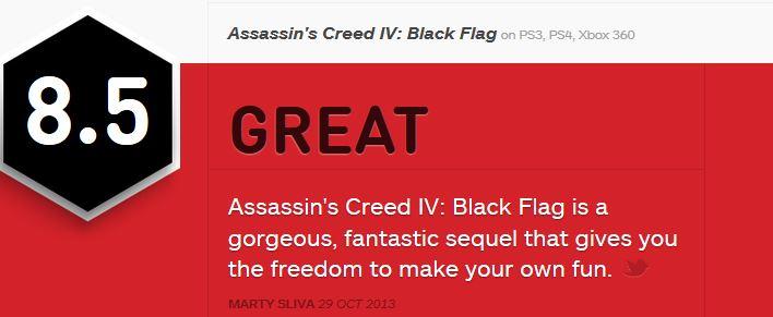 Assassin's Creed 4 ביקורות