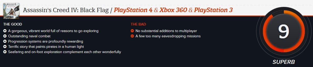 Assassin's Creed 4 ביקורת