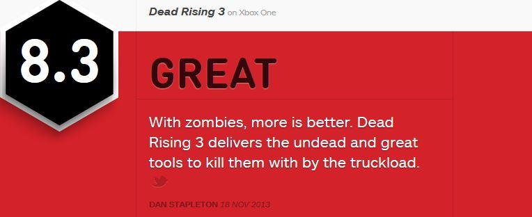 Dead Rising 3  ביקורת