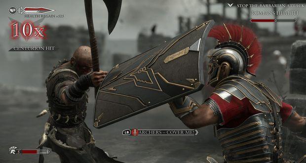 Ryse Son of Rome מערכת לחימה