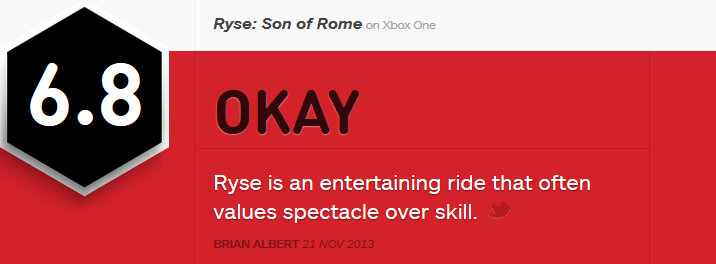 Ryse Son of Rome reviews