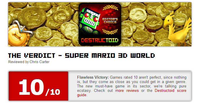 Super Mario 3D World SCORES
