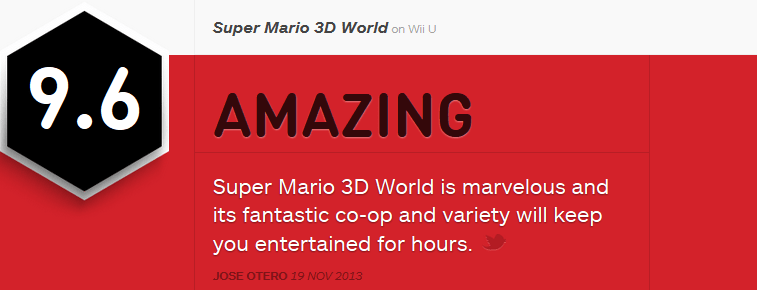 Super Mario 3D World ביקורות
