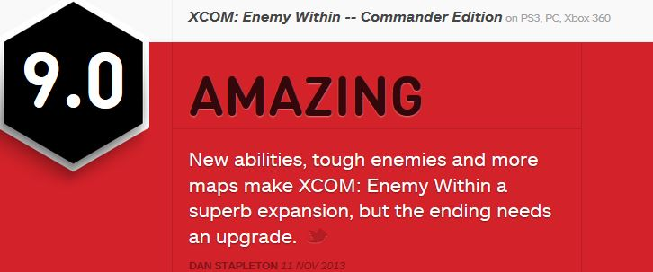 XCOM Enemy Within ביקורת