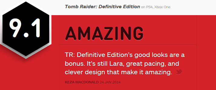 Tomb Raider Definitive Edition ביקורת
