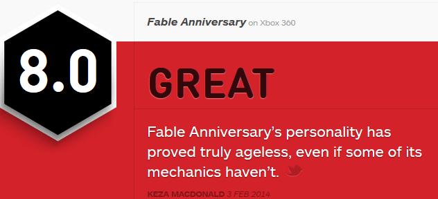 Fable Anniversary ביקורות