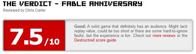 Fable Anniversary reviews