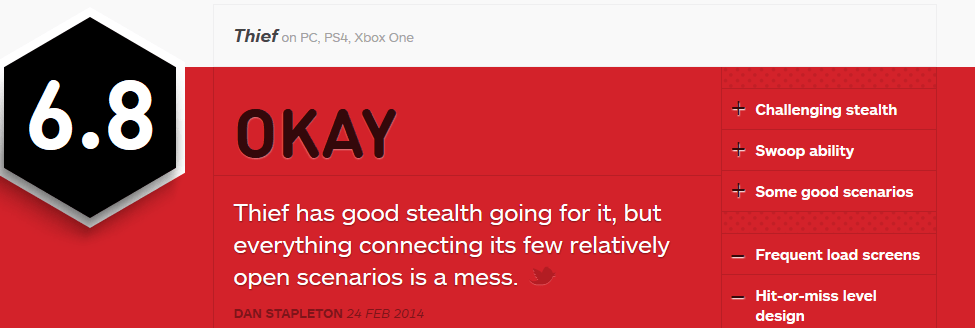 THIEF IGN REVIEW