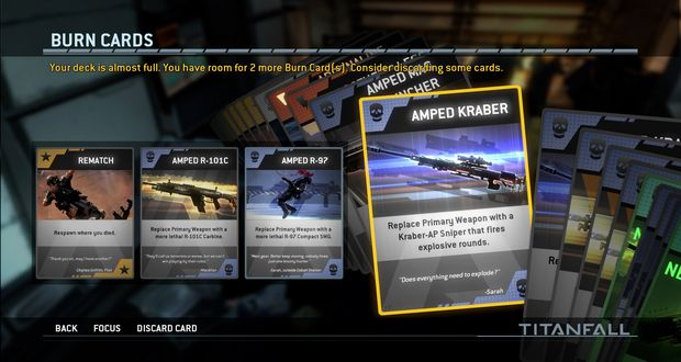 TitanFall burn cards