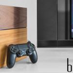 PS4 מעוצבת בסטייל מעץ אמיתי