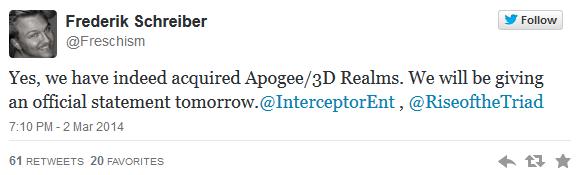 Interceptor buys 3D Realms