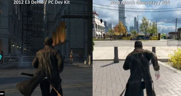 Watch Dogs Graphic Comparison E3 2012 2014
