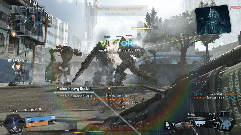 titanfall victory
