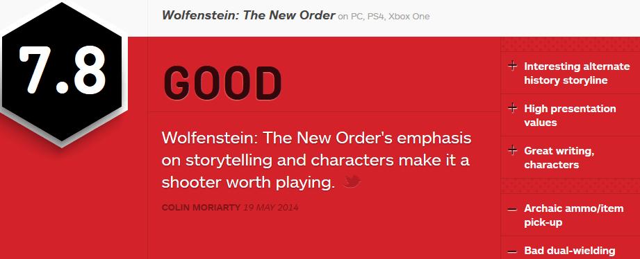 וולפנשטיין ביקורת IGN