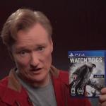 """מהמקום הכי לא צפוי: """"ביקורת"""" ראשונה ל-Watch Dogs מגיעה מקונאן או'בריאן"""