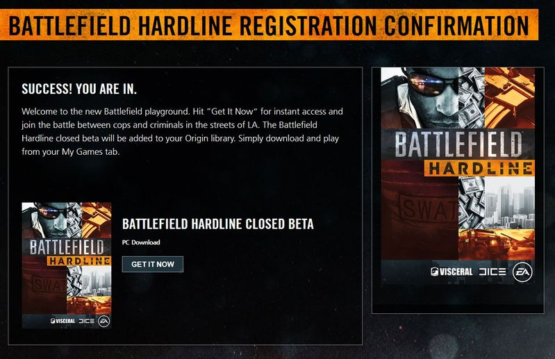 BATTLEFIELD HARDLINE CLOSED BETA IS OPEN FOR PC
