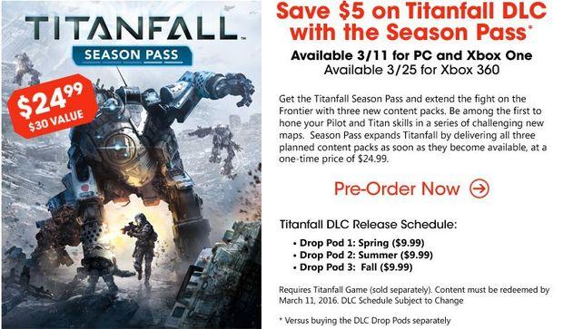 Titanfall Season Pass DLC