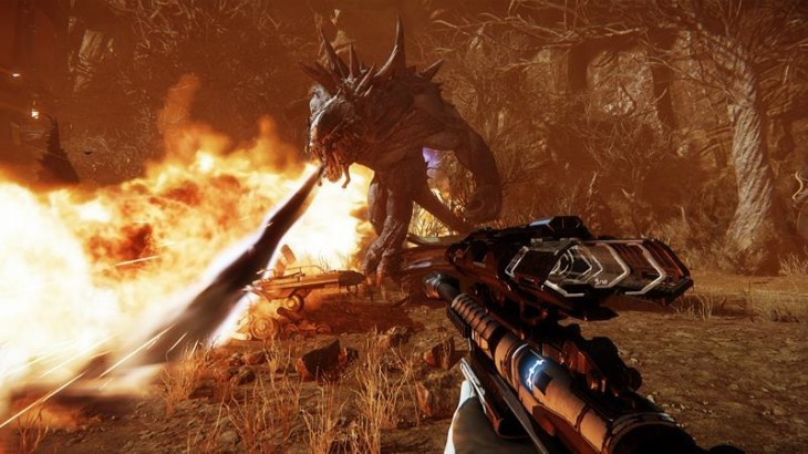 Evolve-gameplay-monster-and-hunter-characters