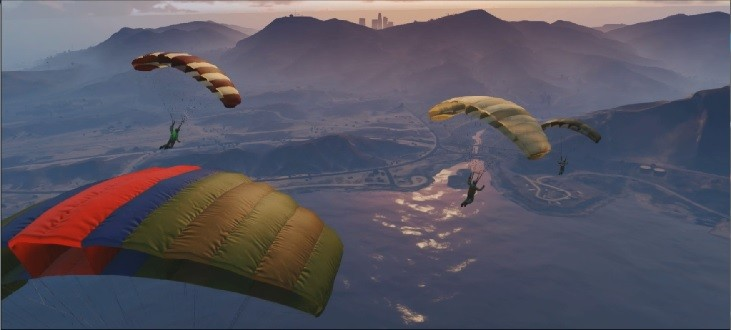 GTA-ONLINE-FLIGHT-SCHOOL-Parachuts