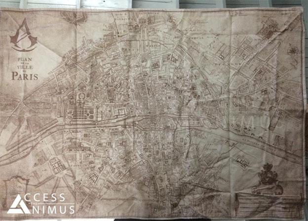 """המפה של פריז במשחק AC Unity קרדיט ל """"Skelaa"""" מהאתר רדיט"""